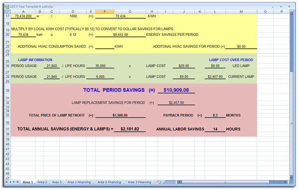 sc 1 st  Custom Lighting of America Inc. & Calculate LED Savings Yourself u2026 with our new excel template! azcodes.com